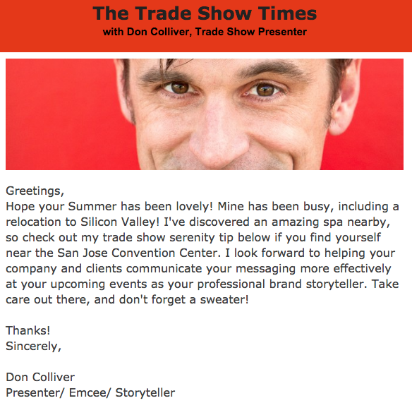 trade show presenter fall newsletter