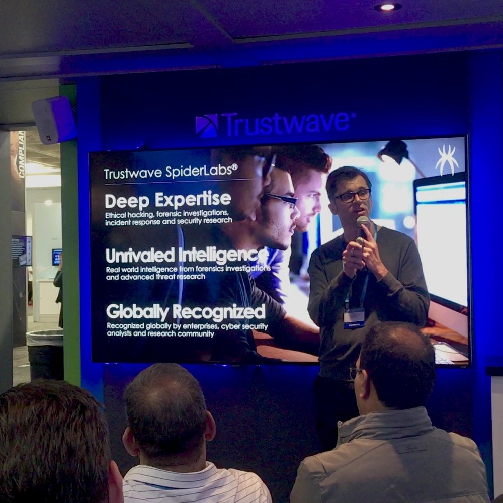 trustwave rsa trade show presenter