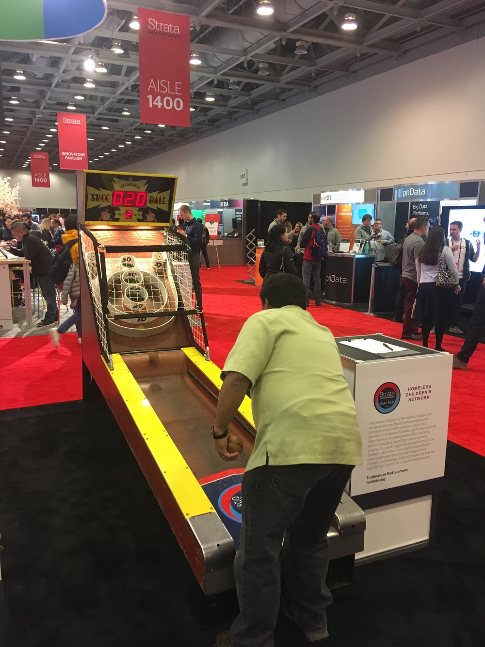 trade show engagement game skee ball