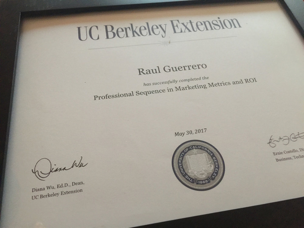 UC Berkeley Extension Certificate
