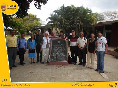 School Principal in Comayagua, Arnulfo Matute, Professor Letty Fajardo, John Potts, Charly Potts, Chip Paulson, Gabriel Blandin, John Ristvey, Martin Chedid, Professor Carolina and Joel Garcia.