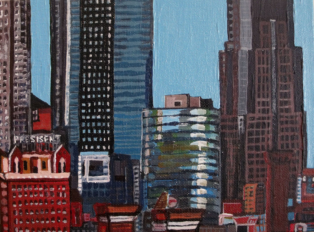 """Kansas City, Missouri"" 10"" x 8"" oil on canvas"