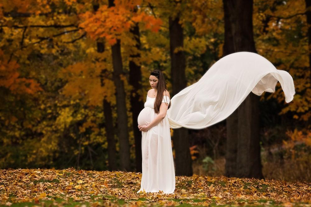 fall maternity session buchanan michigan