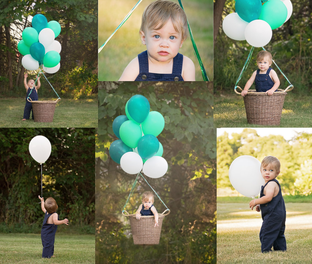 Hot Air Balloon Baby Photos, One year old photos