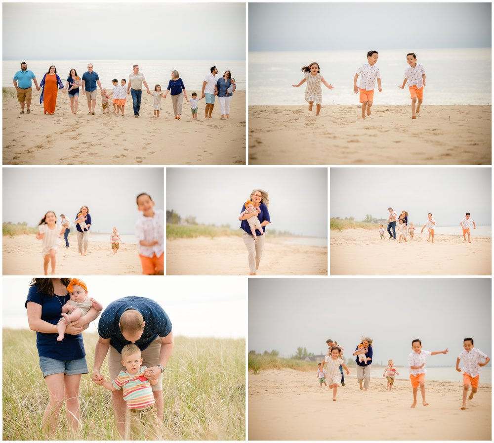 During each session, I prompt families to spend some times just interacting, connecting, and having fun. Those candid moments can even be more valuable than posed photos.