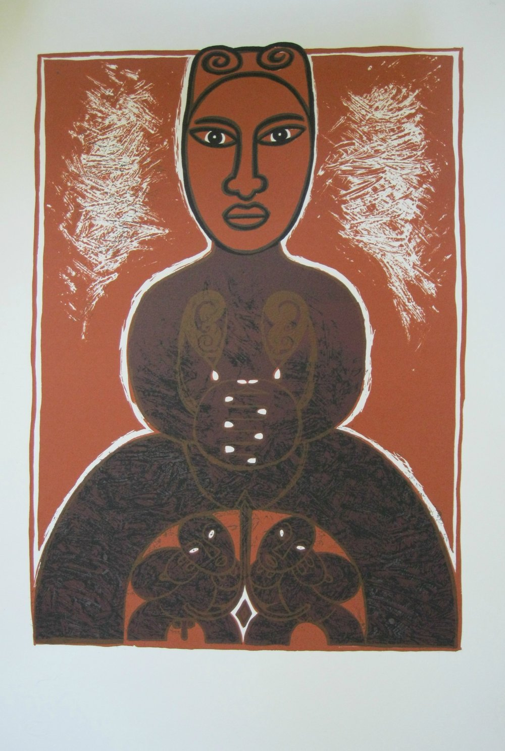 'Mana Wahine II 2011'  silkscreen limited edition fine art print by Robyn Kahukiwa. Click   here   to learn more about this artwork.