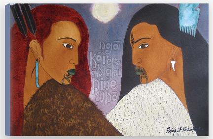 'Hinewha' by Robyn Kahukiwa.
