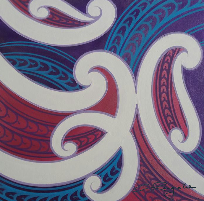 'Papatūānuku'  by Carly Rangiaho. Click   here   to learn more about this artwork.