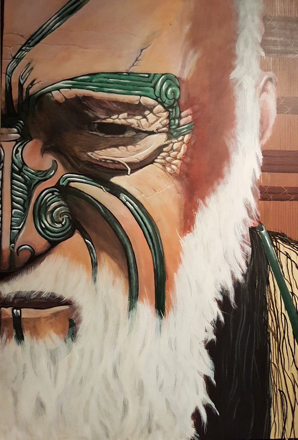 'Noble Rangatira'  by Te Rahui Nicholls. Click   here   to purchase yours.