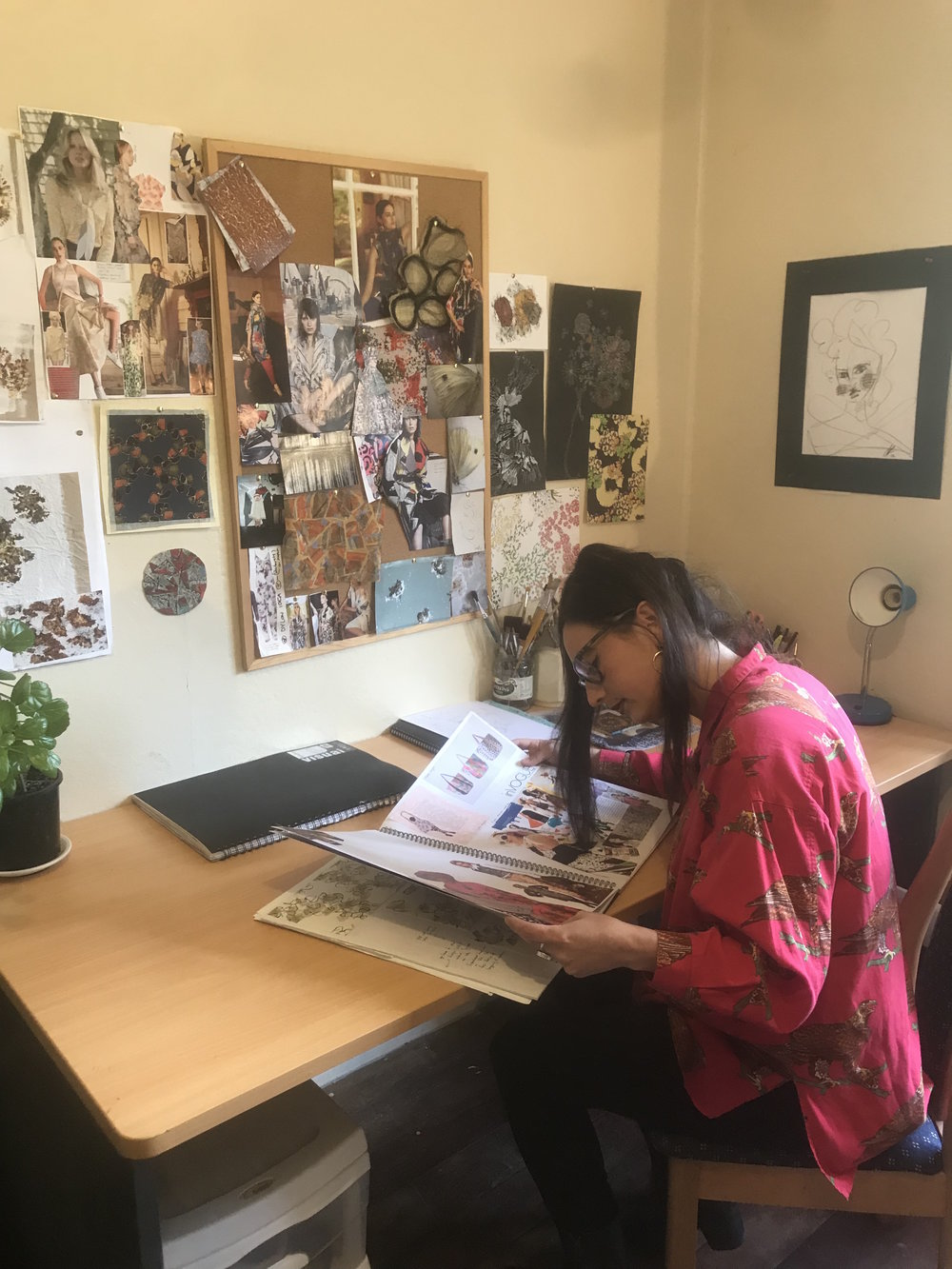 Kukutauaki based artist,  Sophia Parun  in her studio.