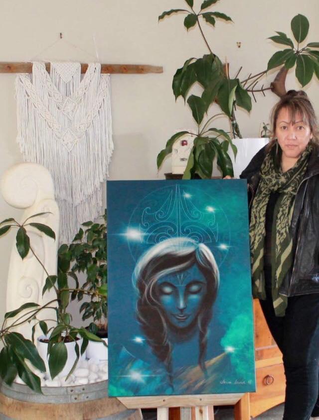 Contributing artist,  Lorna Tawhiti.
