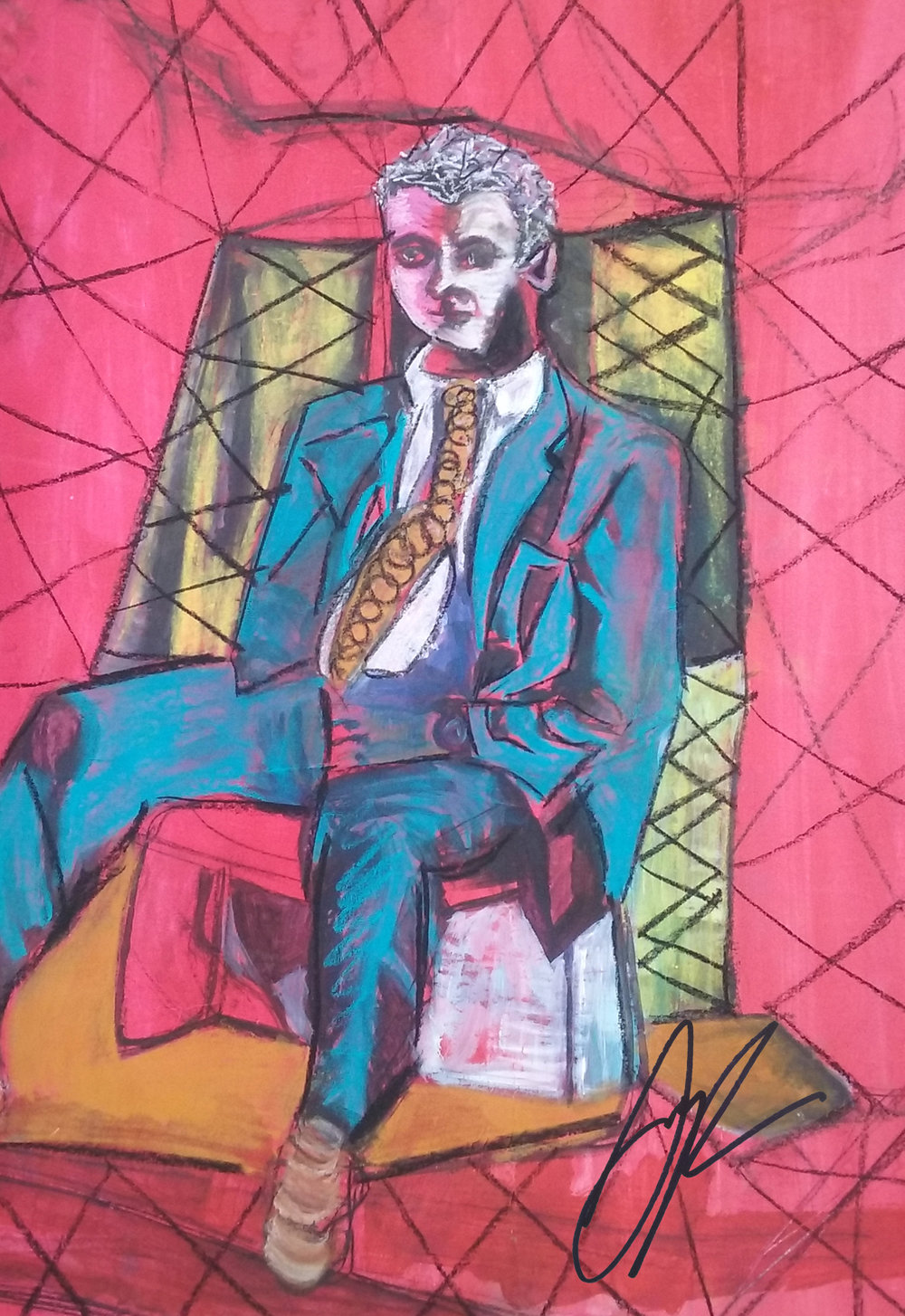 'White Collar'  by Sophia Parun. Click   here   to buy this work.