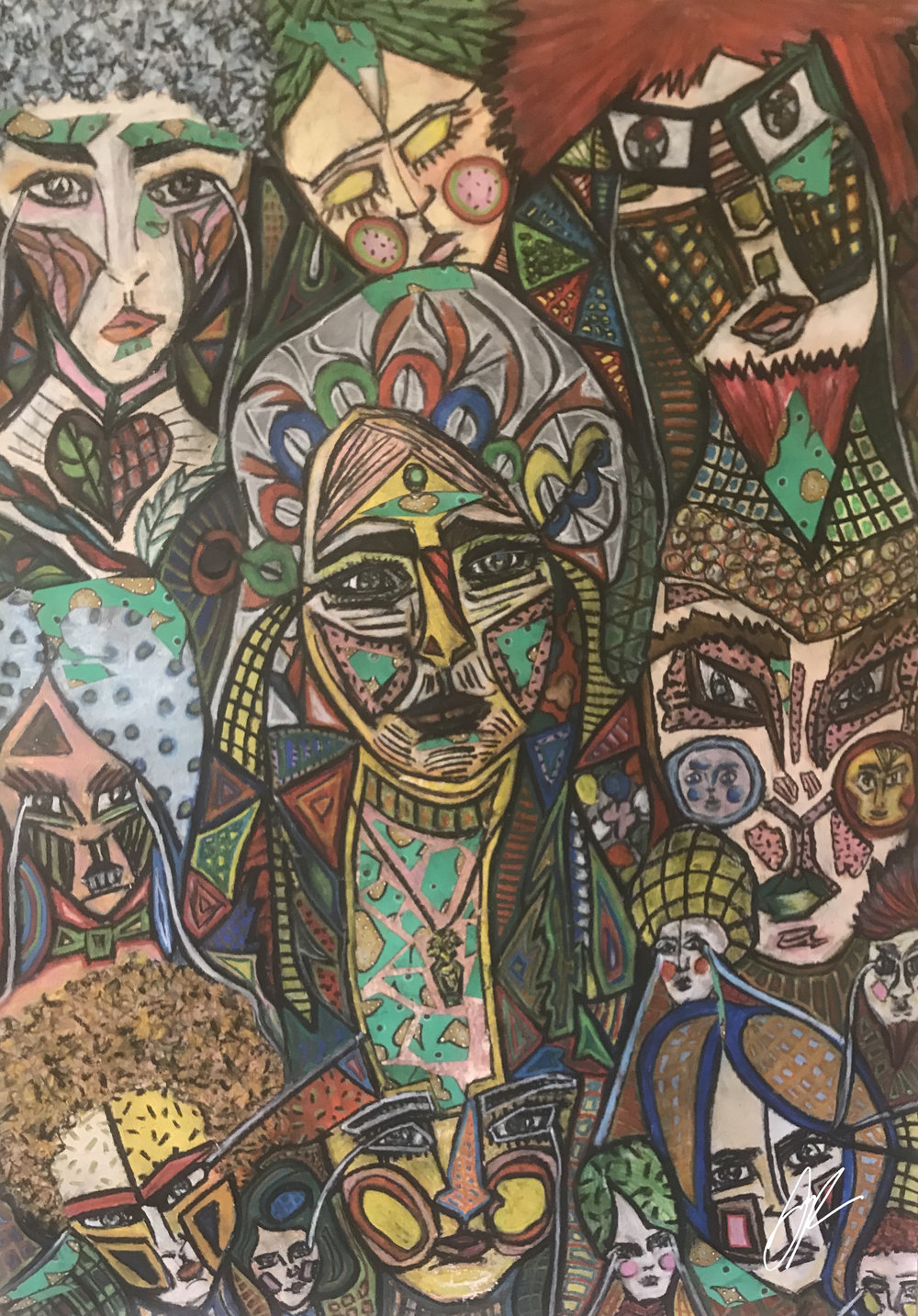 'Face to face'  by Sophia Parun. Click   here   to buy this work.