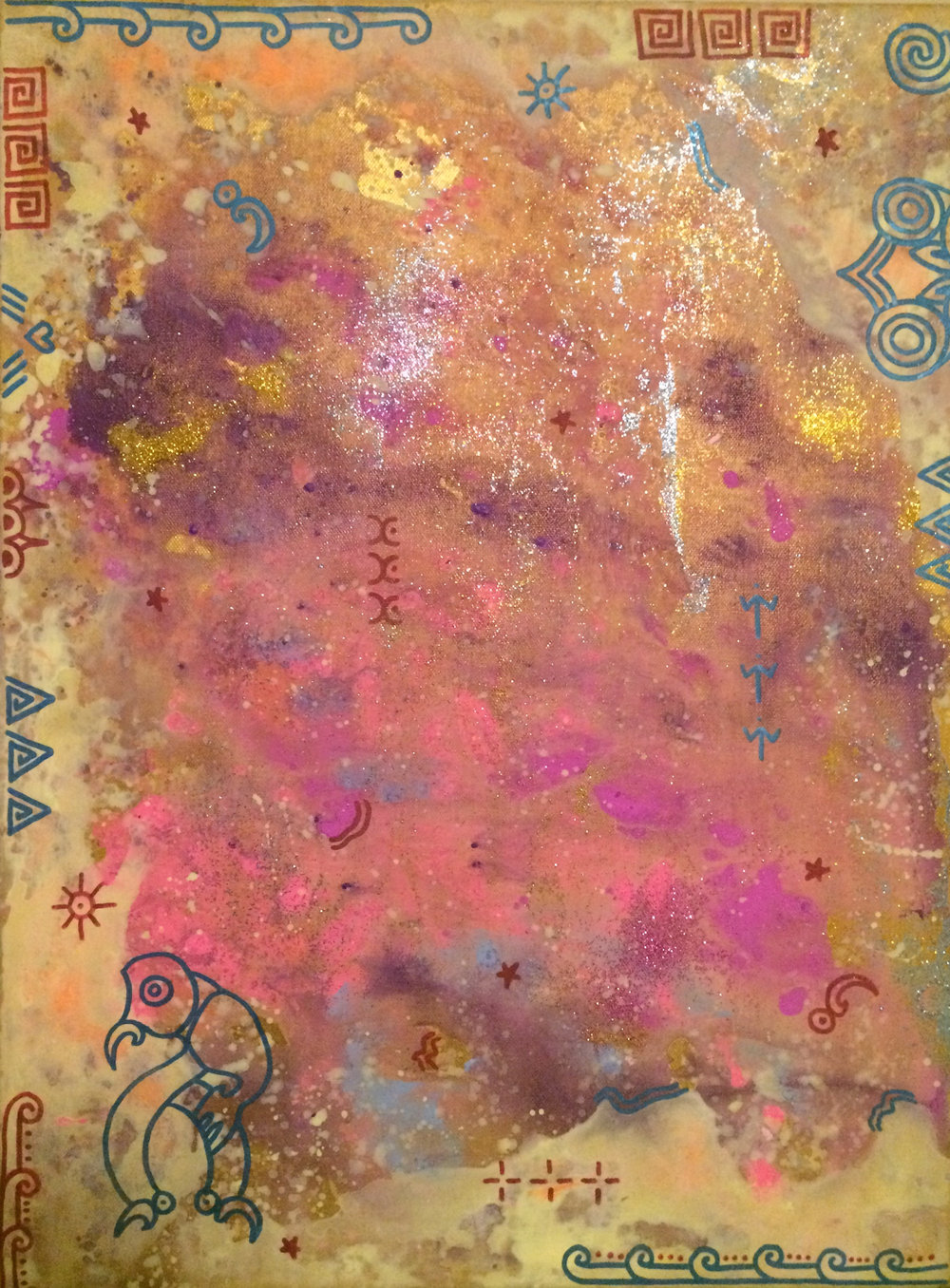 'Ancestor dreaming'  by Taryn Beri. Click   here   to learn more about this original artwork.