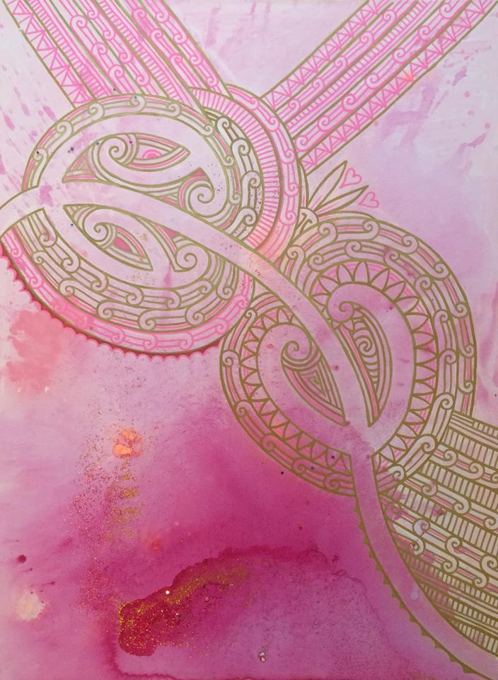 'Divine union'  by Taryn Beri. Click   here   to learn more about this original artwork.