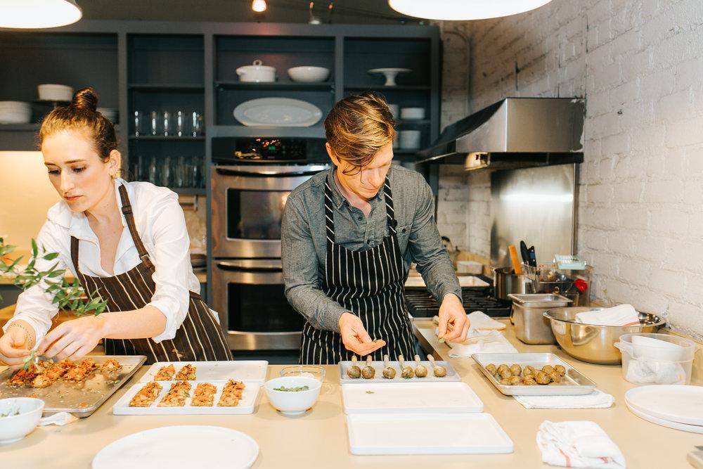 Studio Table   Alexandra Dallago and Chef Ben Roche