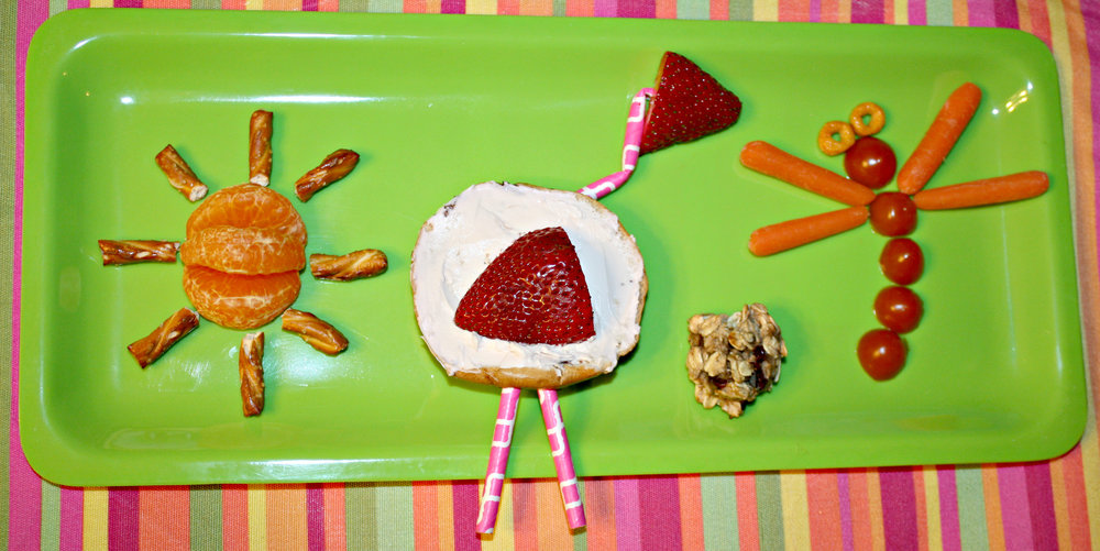 Zumbini®-inspired sun, flamingo, healthy cookie, and critter snacks