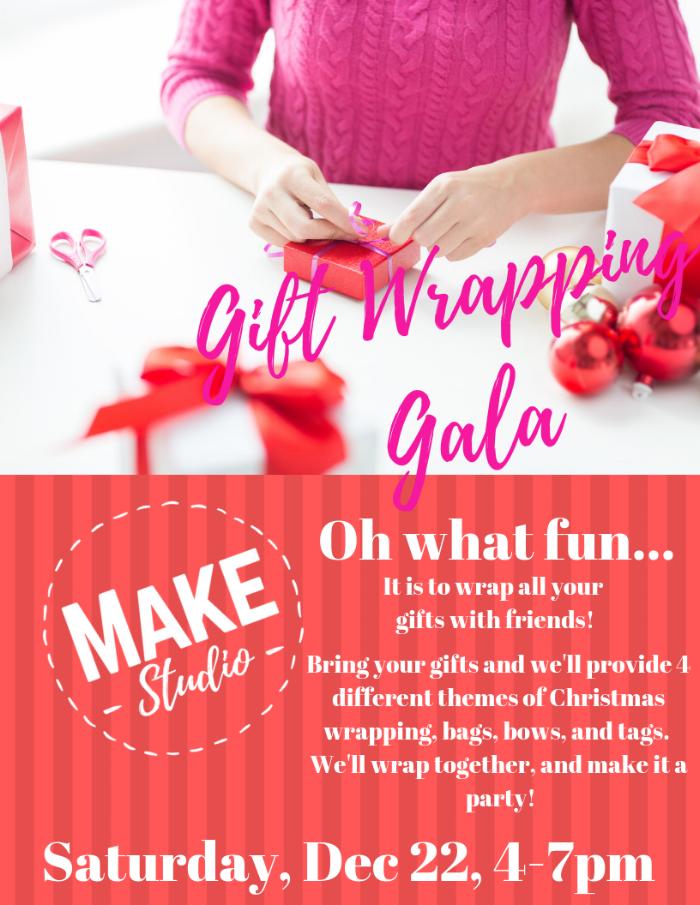 Make Studio Modesto Blog | 2nd Annual Gift Wrapping Gala