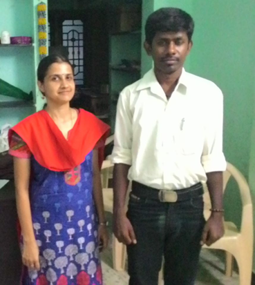 With Loganathan, Aspire alumnus, currently doing Ph.D. at Gandhigram Rural University