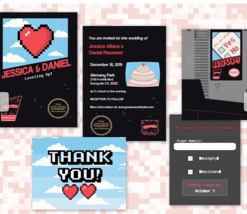 Custom wedding invitation NES