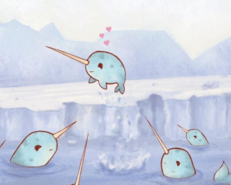 Greeting Cards Narwhal Loves Winter