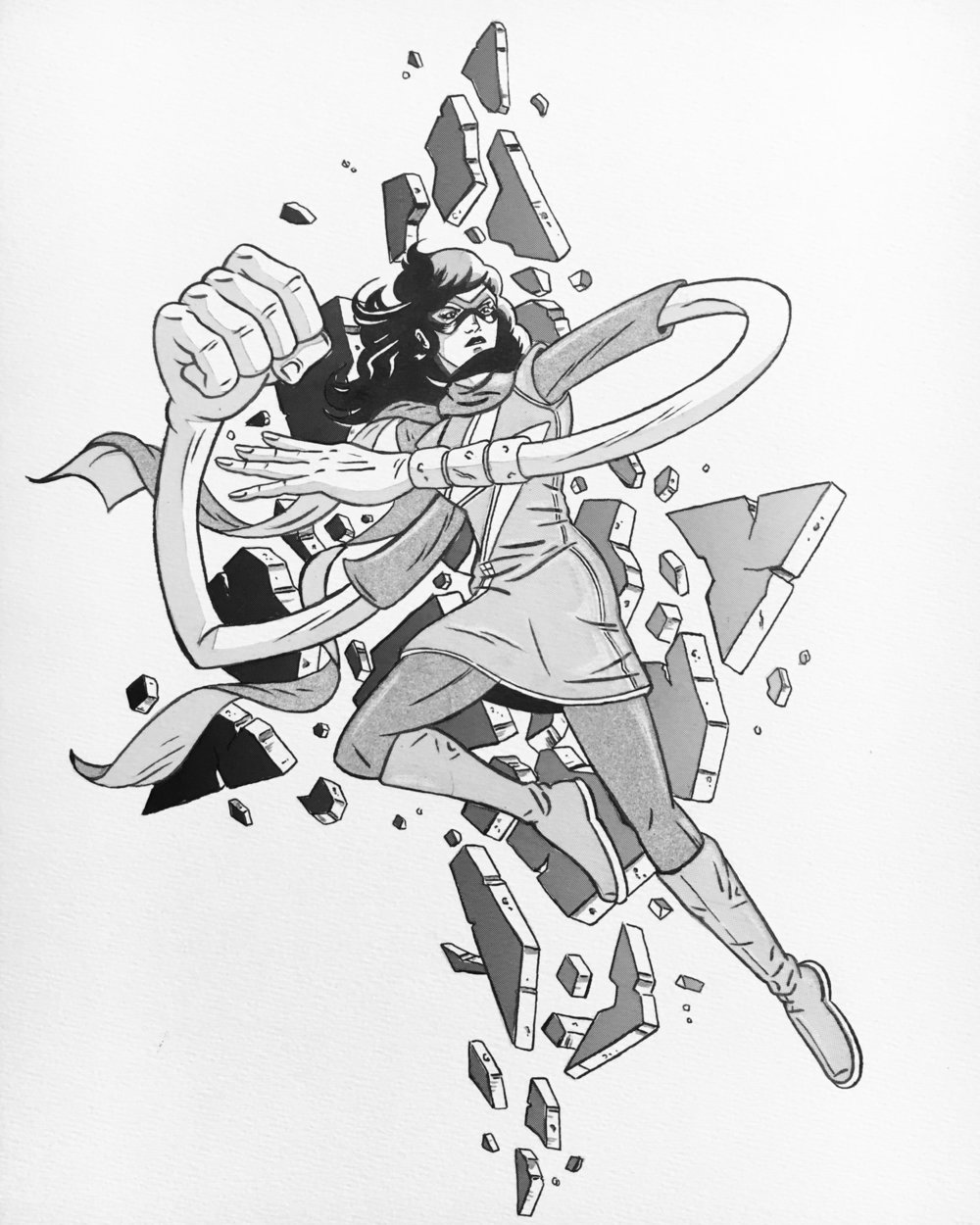 From my own personal collection.  A Ms. Marvel commission Sean made for me, which hangs on my wall above my desk.