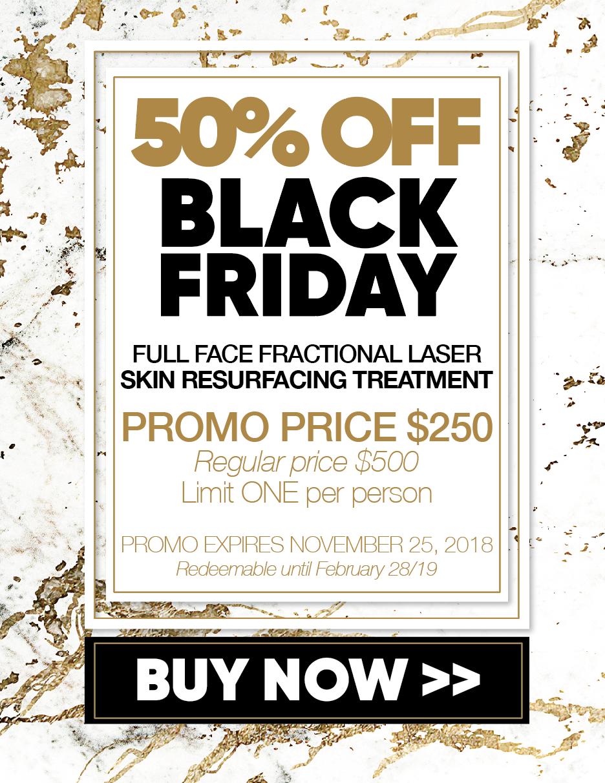 50% Fractional Laser Skin Resurfacing.