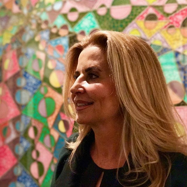 "Happy mothers day mamita hermosa! (In Mexico we celebrate today). Love this pic of my mom infront of my piece ""soultrip"". 💚 @ara_arte"