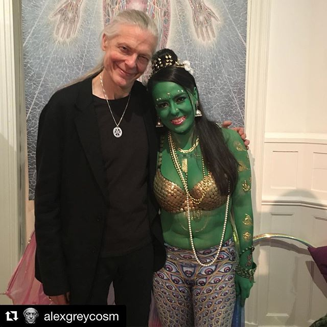 #Repost @alexgreycosm (@get_repost) ・・・ Green Tara wished us Happy St Patrick's Day at CoSMs Vernal Equinox last night!