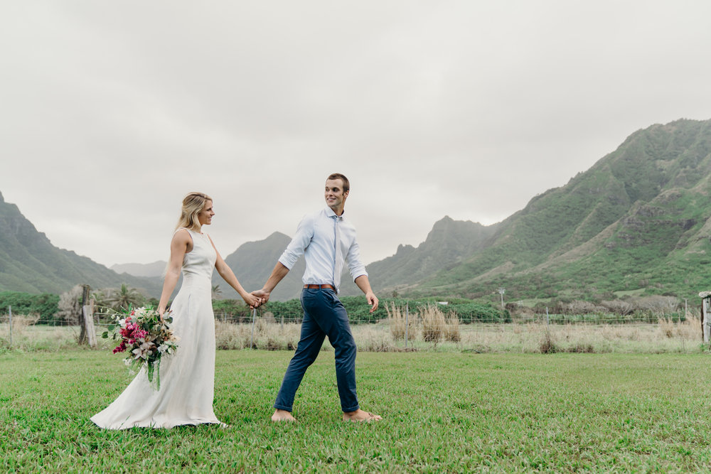 Elopement at Kualoa Ranch