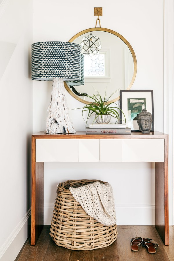A stylish and practical entryway  designed by  Lauren Nelson.