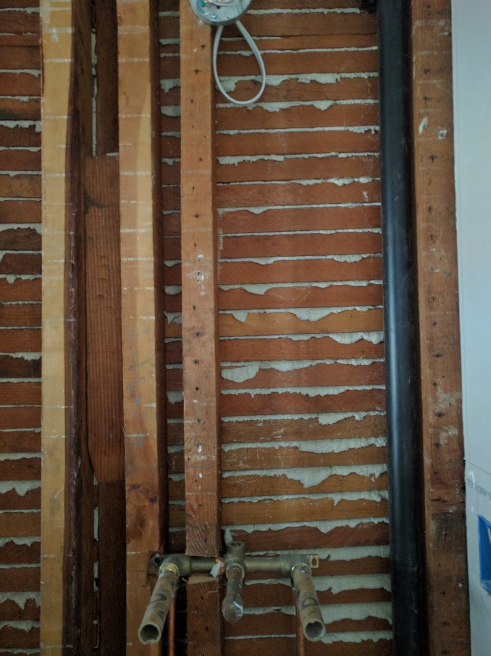 Lath under plaster (our bathroom)
