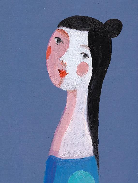 """""""Young Blue Girl"""" by Tali Yalonetzki"""