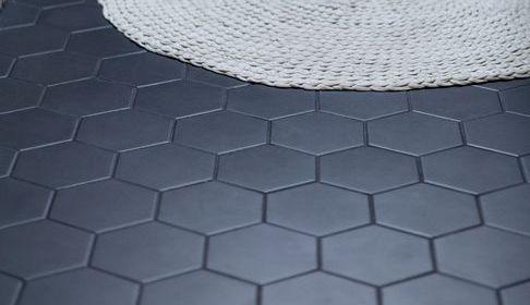 Large gray hex floor