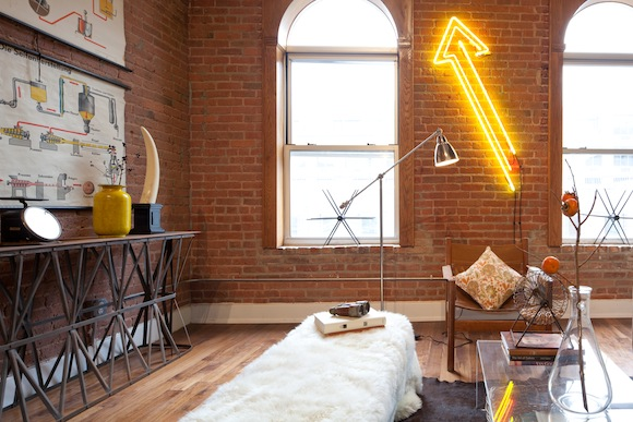 Yellow Neon Sign Arrow by Mondo Neon