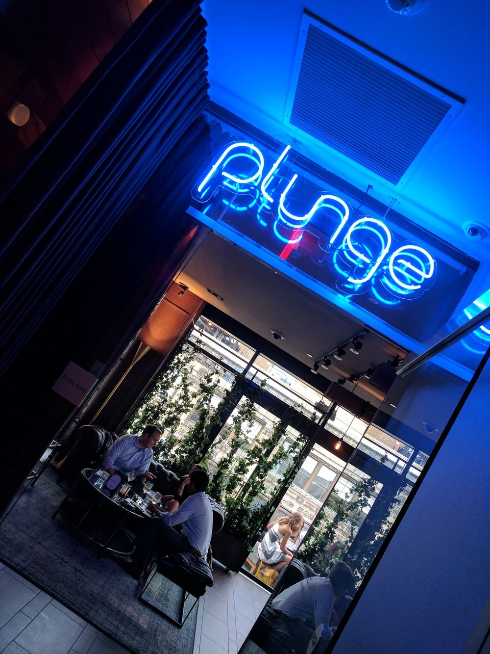 Plunge NYC Blue Neon Sign