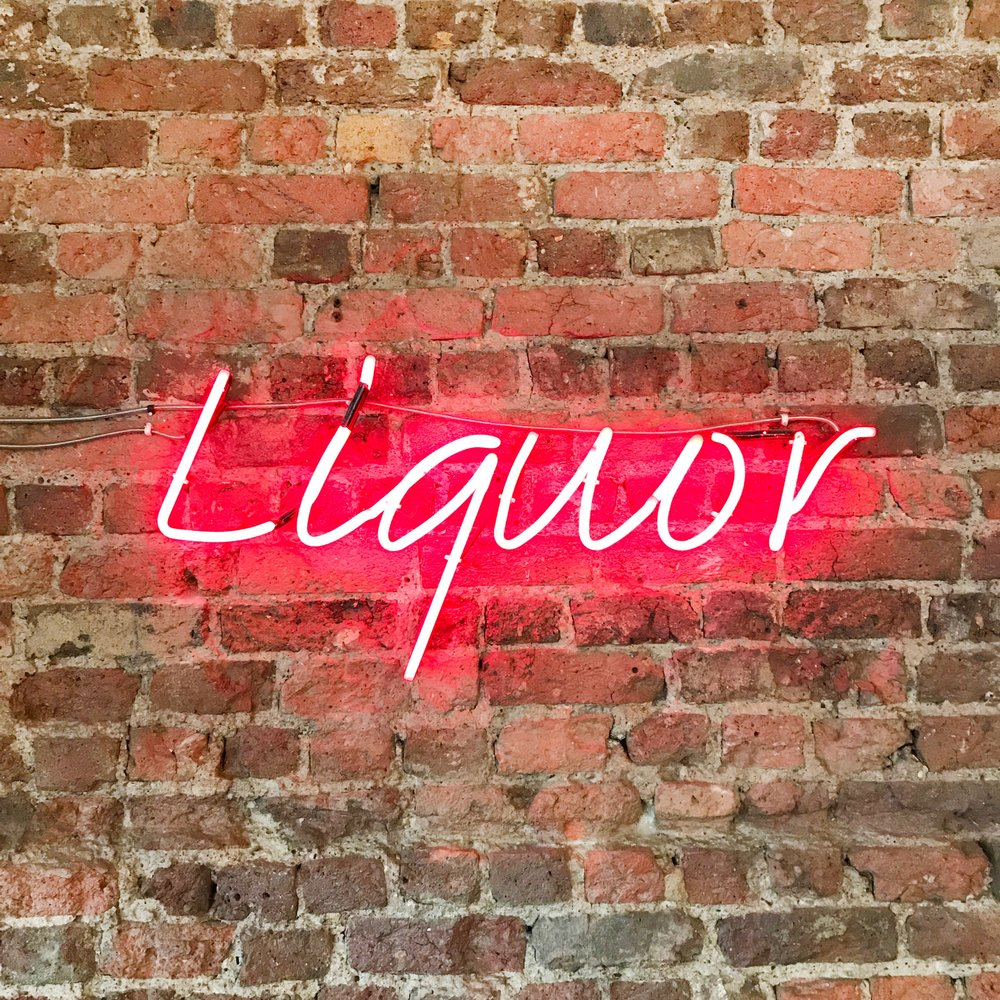 Liquor Custom Pink Neon Sign