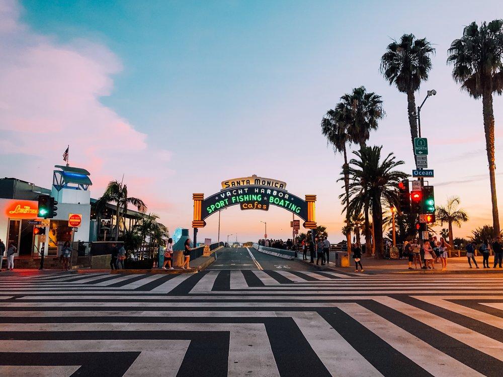 Santa Monica Boardwalk Neon Sign