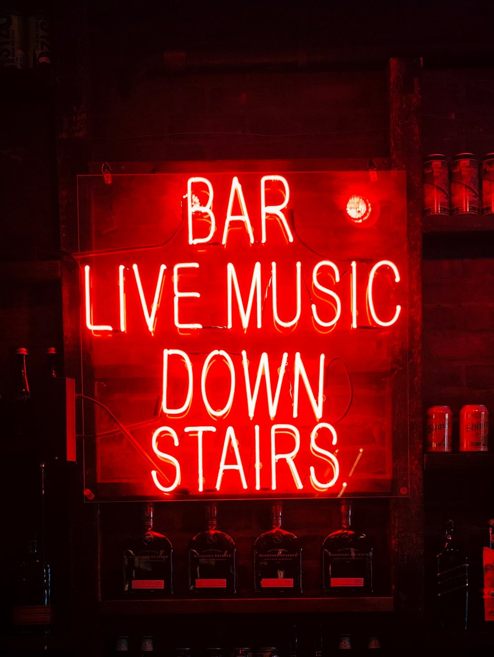 Neon Bar Sign Red