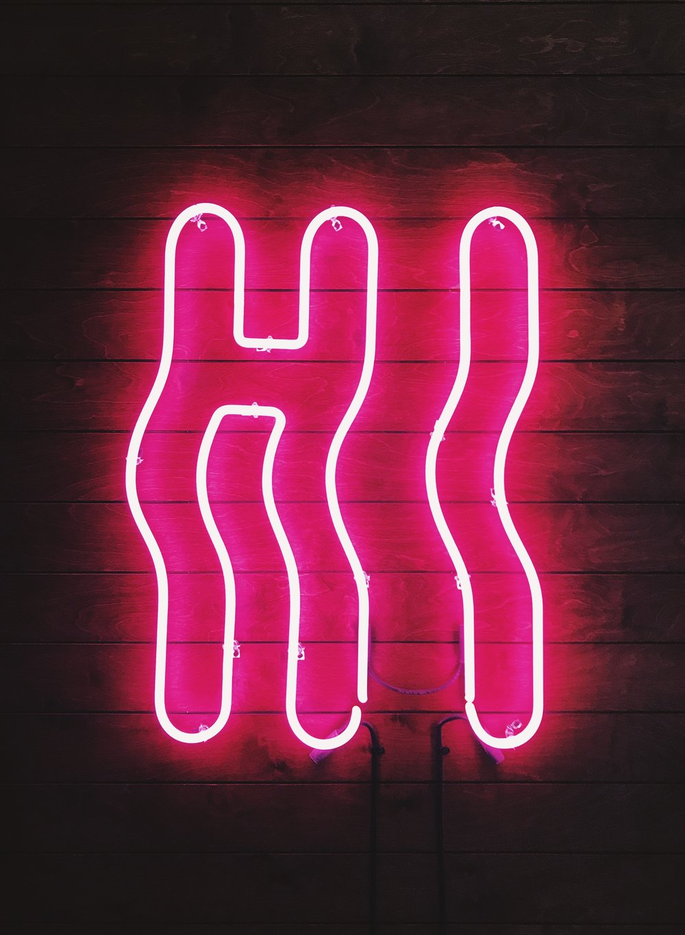 Hi Pink Custom Neon Sign