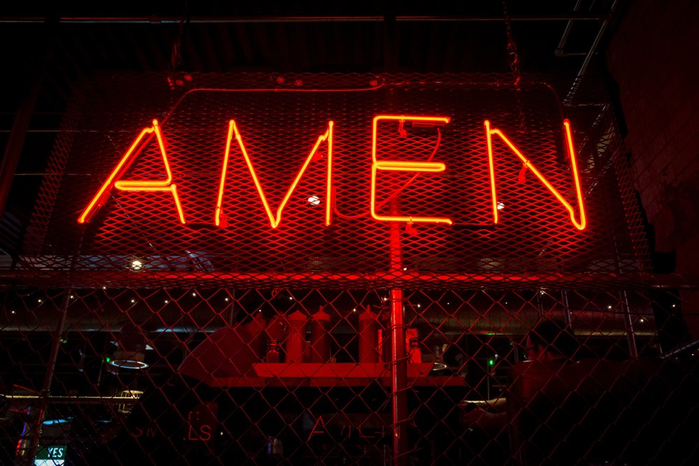 Amen Custom Red Neon Sign