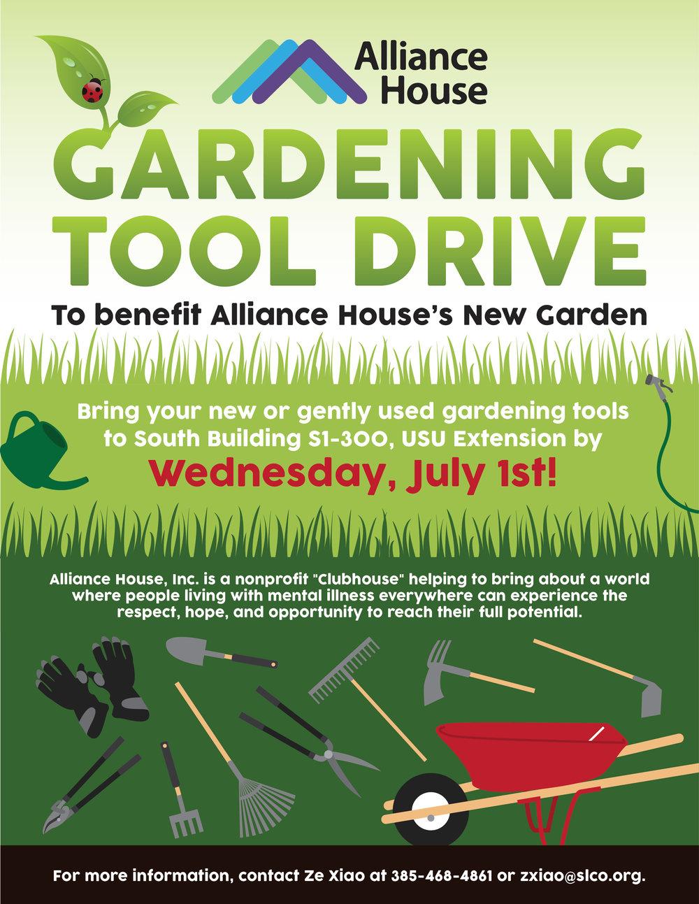 portfolio amanda lau design flyer to promote a countywide gardening tool drive
