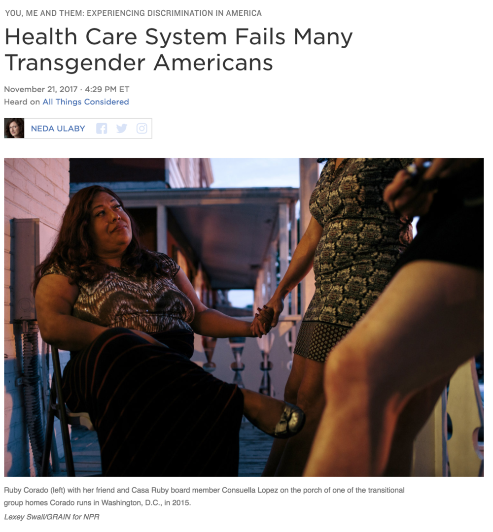 NPR Health Shot - Trans Dudes with Lady Cancer was featured in the web version of this NPR story.
