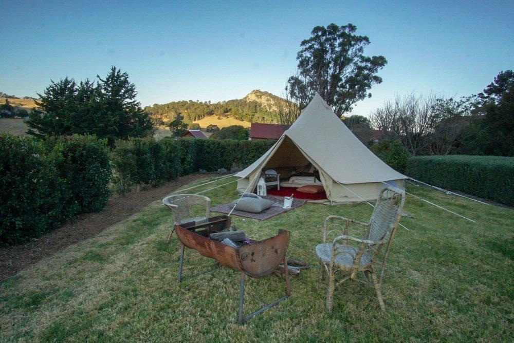 The Tent House - Gulaga: View over Najanuga.