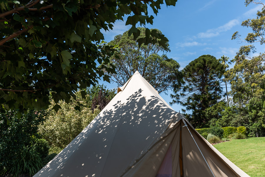 The Tent House - Najanuga: Roof in shade.