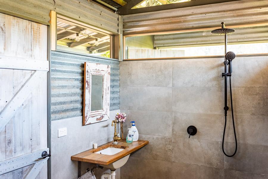 The Tent House - Gulaga: Shared amenities block bathroom.