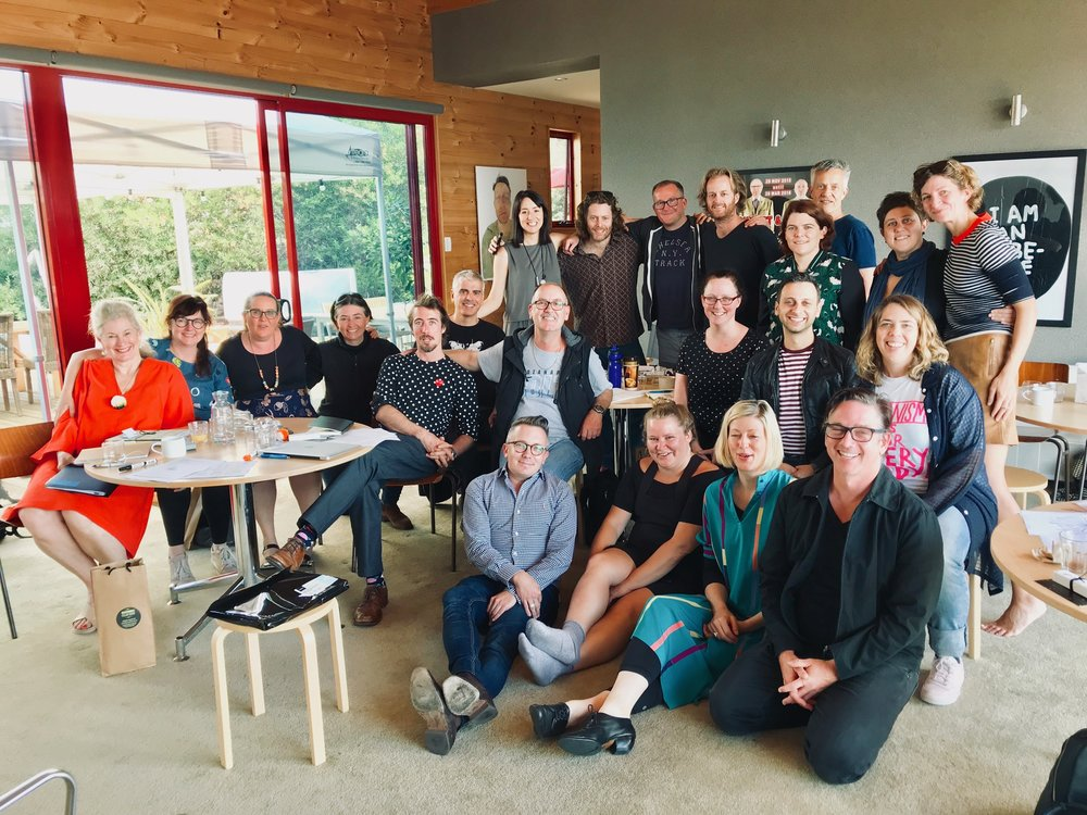 Arts Leaders Program participants in Hobart, January 2018