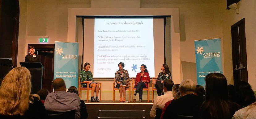 Moderating a panel, 'The Future of Audience Research' at the Sydney Arts Management Advisory Group event, Customs House Sydney