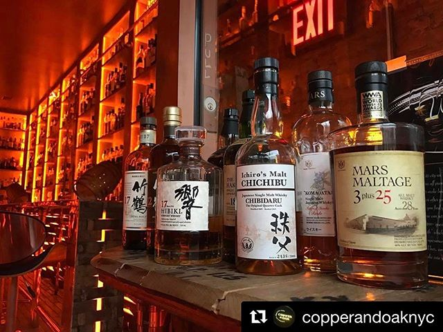 . This looks like weekend prep. 🥃 #weekendlibations _____ repost 👉🏽@copperandoaknyc _____ #singlemalt #japanesesinglemalt #copperandoaknyc _____ #whiskeylife #dapperedden  #eventexperiences  #theoriginalmobilemancave