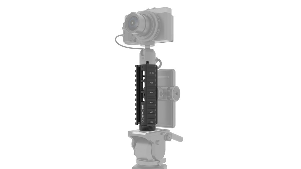 Picatinny Miniature Mount adapts all camera accessories